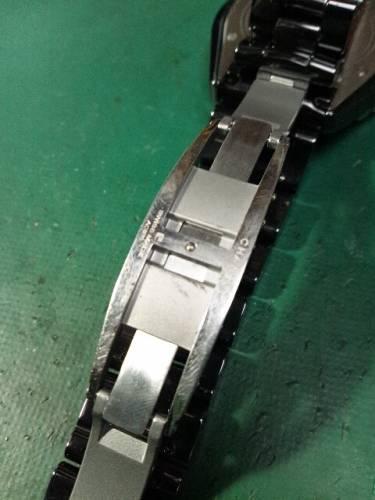 シャネル J12 H0683 分解掃除、ベルト修理
