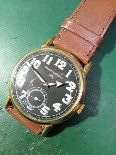 ジラール・ペルゴ アンティーク時計オーバーホールしました。
