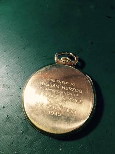ハミルトン懐中時計 分解掃除