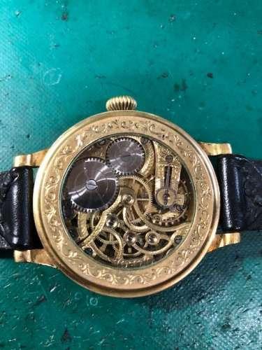 オメガ懐中コンバートアンティーク時計 針修理しました