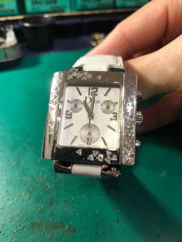 Dior RIVA CD074311A008 43Pダイヤ クロノグラフ ベルト交換しました