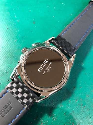 セイコーソーラー時計7B24-OAEO ケース仕上げベルト交換しました