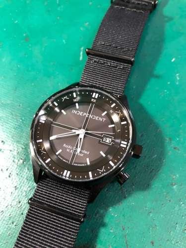 シチズンソーラー時計のガラス交換