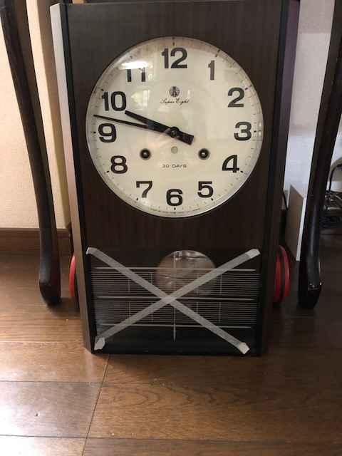 アイチ社製 30DAYSゼンマイ式掛時計 N.5376 オーバーホールしました