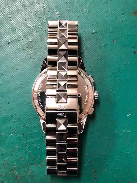 Dior(ディオール)クロノグラフCD114312FB1375 オーバーホール、ベルト新品仕上げしました