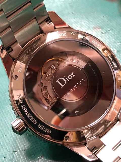 DiorディオールクリスタルCD115510 オーバーホール、ガラス交換しました