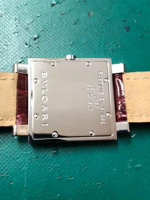 ブルガリ クアドラードSQ29SLD ケース仕上げ、ベルト交換しました。